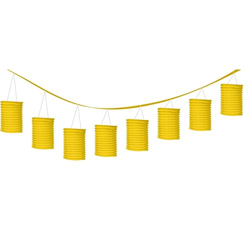 accordion style paper lantern garlands sunshine yellow party decor
