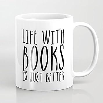 Vida con libros es simplemente mejor regalos tazas de ...