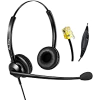 Corded Telephone Headset RJ9 with Noise Cancelling Microphone for Cisco IP Phones
