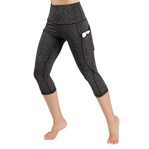 [해외]YOMXL Womens Capri Tights Extra Soft Leggings Fitness Workout Pants High Waist Stretch Active Yoga Pants with Pockets / YOMXL Womens Capri Tights Extra Soft Leggings Fitness Workout Pants High Waist Stretch Active Yoga Pants with P...