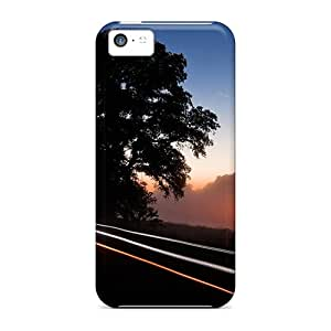 XYlLNsT4598ChgwH Tpu Phone Case With Fashionable Look For Iphone 5c - River Road In Fog Long Exposure