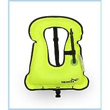 Adults and Kids Inflatable Snorkel Vest Snorkel Jacket Free Diving Safety Jacket