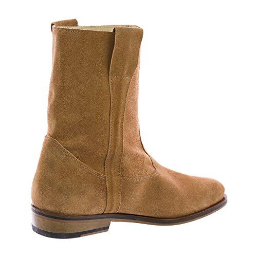 Mens In Pelle Scamosciata Camarguaises V1 Boots Sz 8 Tan