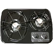 Black-atwood Dv20-b 2-burner Drop in Cooktop Trailer Camper Rv