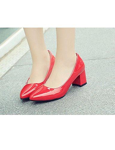 GGX    Damen-High Heels-Lässig-PU-Blockabsatz-Spitzschuh-Schwarz   Rosa   Rot B01KL7IT7M Sport- & Outdoorschuhe Das hochwertigste Material 8a17a0