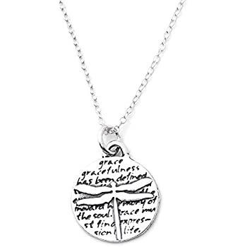 b8c664222 Kevin N Anna Dragonfly (Grace) Sterling Silver Small Pendant Necklace, 18
