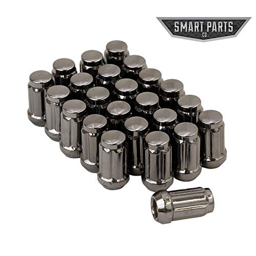 Smart Parts 24 12x1.5 Gunmetal Closed End Acorn Spline Lug Nuts W/Key Cone Seat 1.4