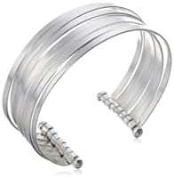 Sterling Silver Polished Multi-Stacked Bangle Cuff Bracelet from Amazon Curated Collection
