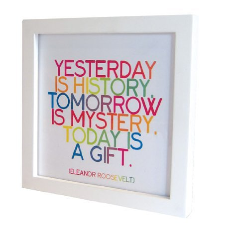Quotable Quotable Card Frame - White - Quotes Kitchen Home ()