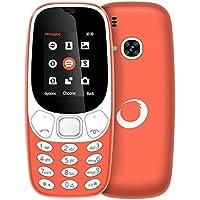 "Brigmton 4430040424 - Teléfono móvil Dual SIM (Pantalla de 1.77"", Bluetooth, cámara DE 0.8 MP, MicroSD hasta 8 GB) Color Naranja"