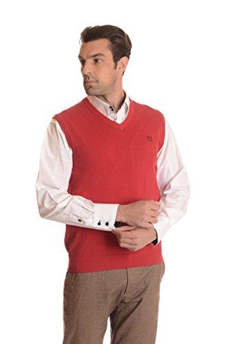 V-Neck Cotton Sweater Vest - 1