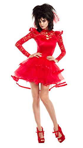(Party King Women's Beetle Bride Costume, red,)