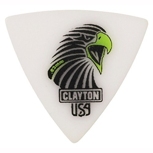 Clayton CSART6312 Rounded Triangle Sharp Acetal/Polymer Guitar Picks, 0.63 mm, Set of 12 Pieces
