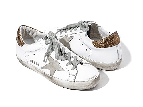 Golden Goose Deluxe Brand Women Sneakers Low Top Superstar White/Gold G31WS590C73 (whoosso) kKSJO