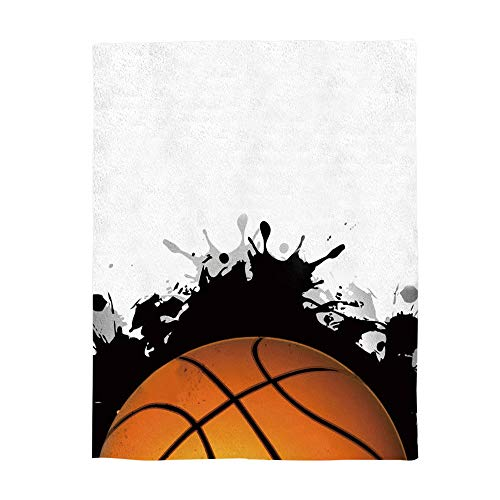 Luxury Flannel Throw Blanket Digital Printing 49x59inch Cartoon Basketball Stadium Blanket Lightweight Travel Camping Blankets for Couch Sofa ()