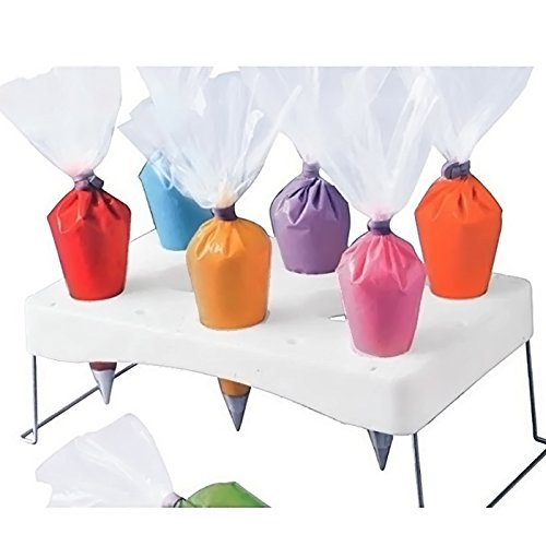 8-Hole Cake Decorating Piping Icing Nozzles Pastry Bag Tube Holder Tray Stand Tool