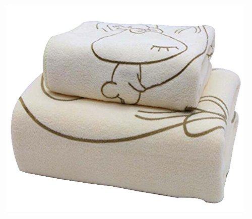 Set von 2 umweltfreundliche saugfähige Sport-Handtücher Badetücher Badetücher