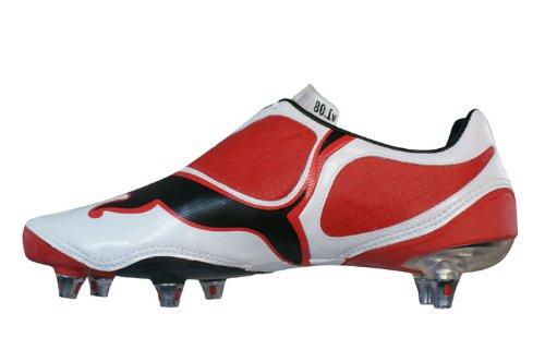 Puma - Botas de fútbol de material sintético para hombre Rojo