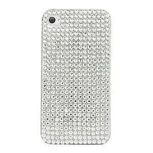 Shining Zircon Pattern Hard Case for iPhone 4/4S (White)
