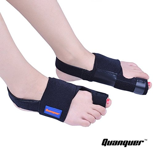 Bunion Corrector by Quanquer [Pair] - Bunion Splint Toe Straightener Brace for Hallux Valgus Pain Relief Fits Men & Women by Quanquer (Image #2)