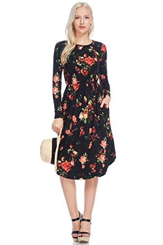 reborn-js-floral-midi-dress-large-black-pink