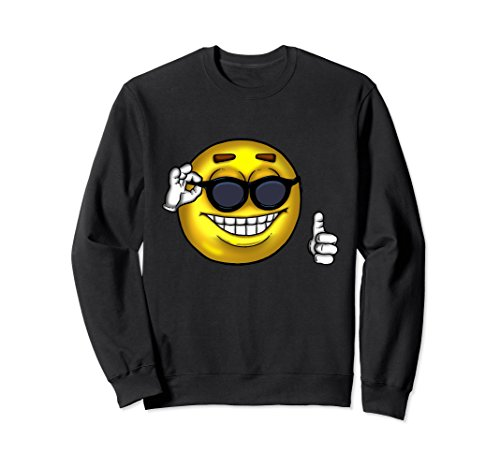 Unisex Picardia Strawman Ball Sweatshirt Sunglasses Thumbs Up Meme 2XL - Sunglasses Meme Guy