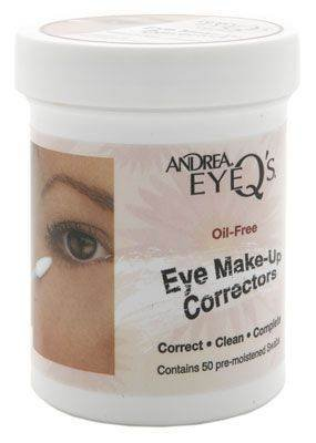 Andrea Eye Q's Oil-Free Make-Up Correctors 50 Pre-Moistened Swabs