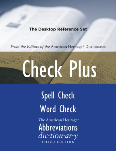 Check Plus Set: The Desktop Reference Set