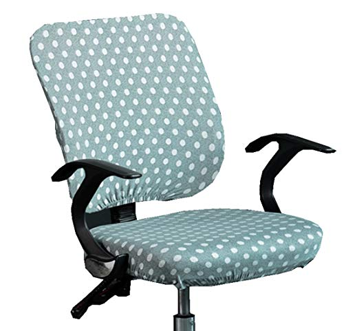 XNN Computer Office Chair Cover - Protective & Stretchable Universal Chair Covers Stretch Rotating Chair Slipcover (A)