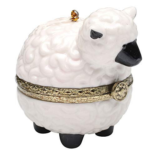 Bandwagon Christmas Decoration - Porcelain Surprise Ornaments Box - Sheep