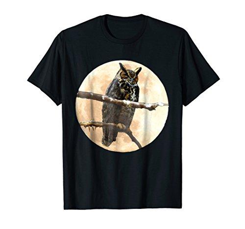 (Great Horned Owl & Moon T-shirt )