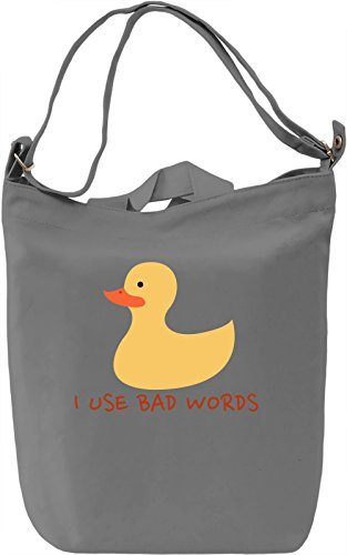 I use bad words Borsa Giornaliera Canvas Canvas Day Bag| 100% Premium Cotton Canvas| DTG Printing|