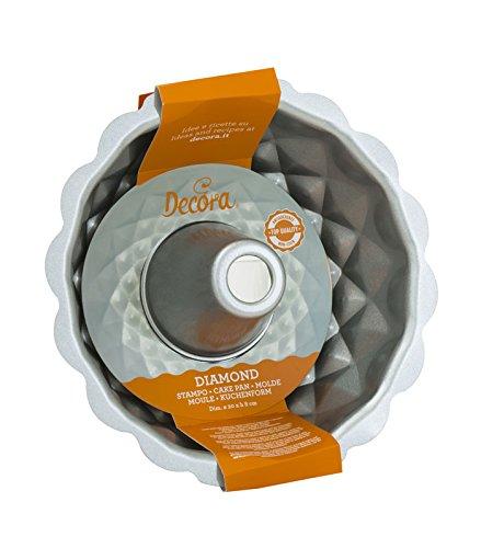 DECORA 0070021 Stampo Ciambella Top Quality Antiaderente, Acciaio, Grigio