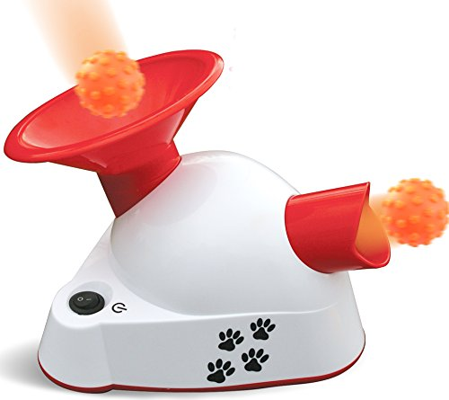 Kleeger Automatic Dog Ball Fetcher Talking Trainer Toy | Dog Ball Launcher / Thrower For Indoor Or Outdoor Use| Interactive Ball Fetching Machine with 3 Small Balls. For Small Dogs & Puppies Only. Ball Small Dog Toy