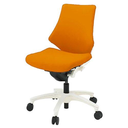 ITOKI(イトーキ) エフチェア(f) 背座:クロス ローバック アーバンオレンジ 樹脂脚:ホワイトW KF-340GS-W9D3 アーバンオレンジ 肘なし B00856UBEG