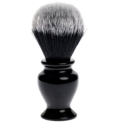 Fendrihan Black and White Synthetic Shaving Brush with Resin Handle for Personal and Professional Shaving (Knot: 24 mm) ()