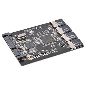4枚の micro SDカード を SSD 化する キット( Serial ATA 接続 ) 4MCSDSSD