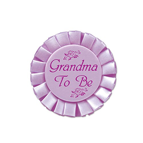 Grandma To Be Satin Button Party Accessory (1 count) (1/Pkg) ()