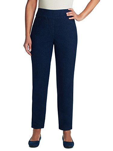 Alfred Dunner Womens Plus Size Stretch Med Pant