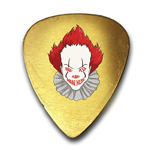 We All Float Down Here Horror Movie Clown 3D Color Printed Guitar and Bass Pick Gift Brass