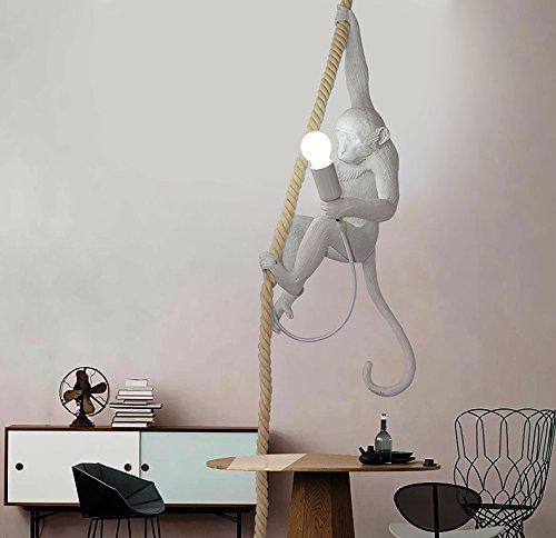 dormitorio L/ámpara de techo n/órdica para restaurante creativa de acr/ílico estudio no Incluida cuerda de c/á/ñamo bombilla E27/ 72/cm de alto l/ámpara de ara/ña LED
