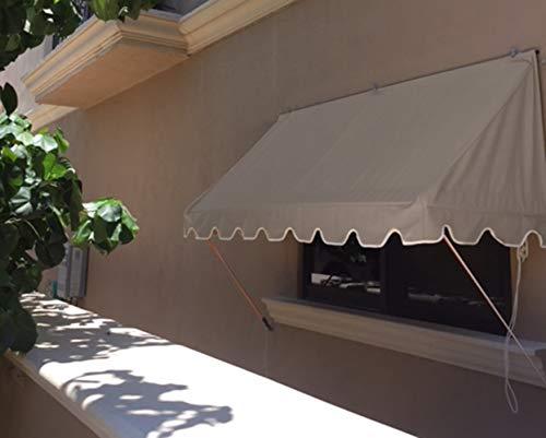 SavAwn Energy Saving Designer Retractable 4ft West Coast Taupe Tan Brown  Window/Door Awning