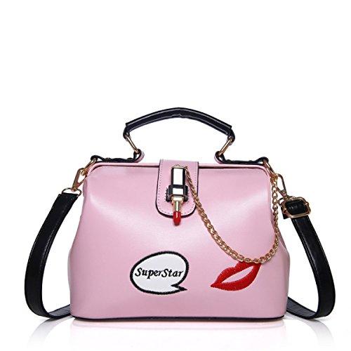 FZHLY Il Nuovo Pacchetto Diagonale Squisito Spalla Miss Han Ban,Pink