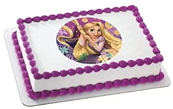 1 4 Sheet Tangled Rapunzel Birthday Edible Image Cake Cupcake Topper
