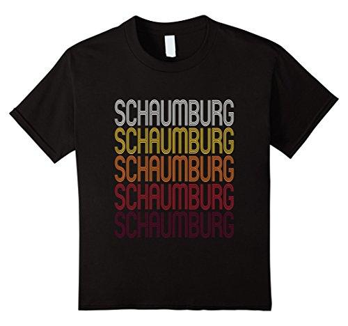 Kids Schaumburg, IL | Vintage Style Illinois T-shirt 4 - Kids Schaumburg