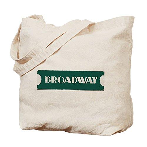 CafePress–Broadway Street Sign–Gamuza de bolsa de lona bolsa, bolsa de la compra