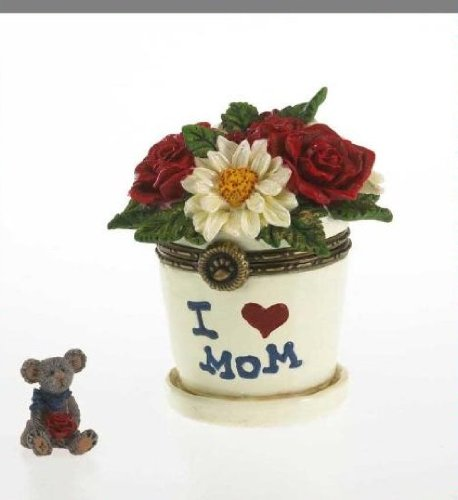 Boyds Bears Lil' Junior's Flowerpot with Petal McNibble ()