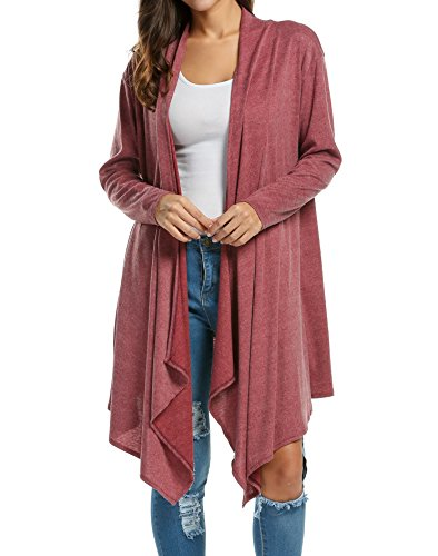 Zeagoo Women's Long Sleeve Draped Open F - Cotton Long Cardigan Shopping Results