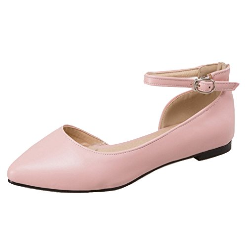 Coolcept Mujer Comodo Plano Pumps Shoes Pink