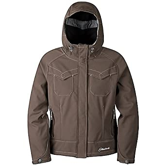 470a7d606e Image Unavailable. Image not available for. Color  Women s Cloudveil  Headwall Brown Hooded Soft Shell Wind ...